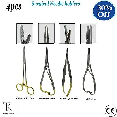 Dental Surgical Needle Holders Oral Microsurgery Instruments Suturing Forceps