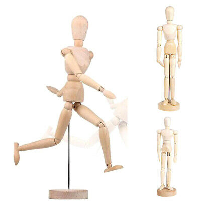 8/12/16inch Wood Human Drawing Model Artist Wooden Body Sculpture Mannequin