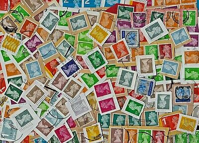 GB - security machin mixed value stamps - 25g from kiloware