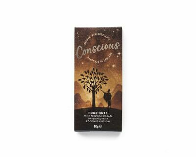 Conscious Chocolate Four Nuts Chocolate Bar 60g (Pack of 10)