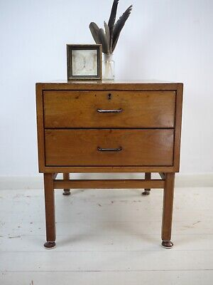 Vintage Mid Century Teak Chest of Drawers Bedside Cabinet Plan Chest Danish Styl