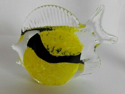 Handmade Glass Fish Yellow Tropical Design ID0597