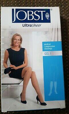 JOBST ULTRASHEER MEDICAL COMPRESSION STOCKINGS CCL1 below knee Closed Toe Petite