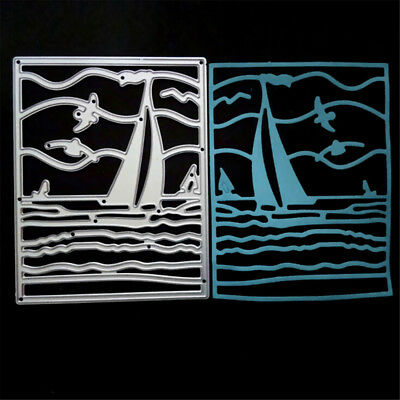 Sailboat Metal Cutting Dies Stencil For Scrapbook Paper Cards Craft Embossing ST