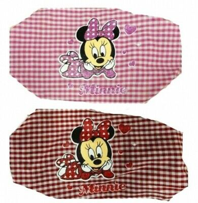 Baby Girl's Disney MINNIE MOUSE Set of 2 Gingham/Checked Elasticated Headbands