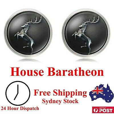 House Baratheon Cufflinks - Game of Thrones - Novelty for Suit, Gift Present