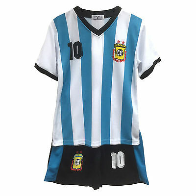 Football Kit Shorts Set Top Vest T-Shirt Summer New Boys Girls Size 2-12 Years