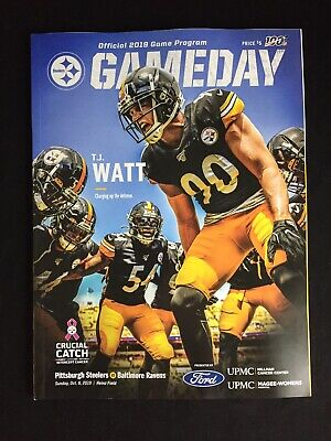 Pittsburgh Steelers vs Baltimore Ravens GameDay Stadium Program 10.06.2019