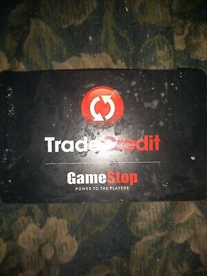 Scratched Game Stop * Used Collectible Trade Credit/Gift Card NO VALUE *