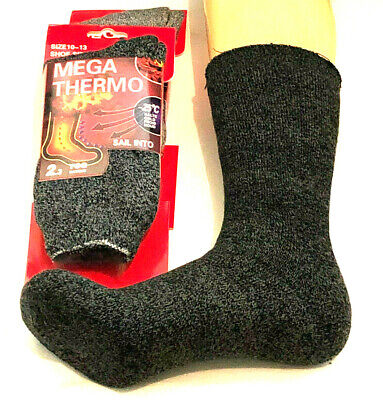 3 Pairs Genuine Mens Womens Kids Heat THERMO Thermal Winter Warm Socks 2.3 tog