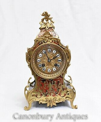 Boulle Mantle Clock - French Antique Clocks 1860