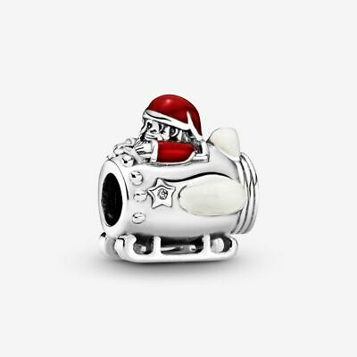 Genuine Pandora Santa In Space Charm, Brand New, Hallmarked S925 Ale,Free Uk P&P