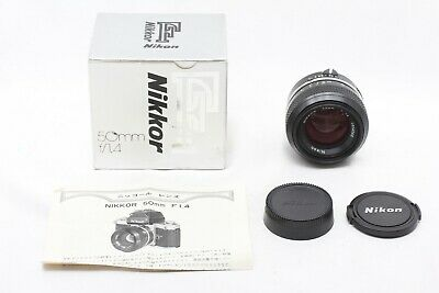 """Almost UNUSED MINT in BOX"" Nikon Nikkor 50mm f/1.4 Non-Ai Lens From Japan #5365"
