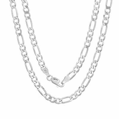 Sterling Silver Necklace FIGARO Chain Solid 925 Italy 4mm New Wholesale Prices