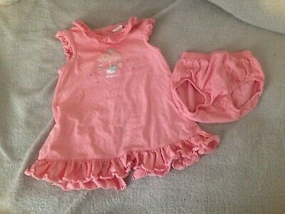 Baby Girls Spanish Dress And Pants Tutto Piccolo Pink 12 Months