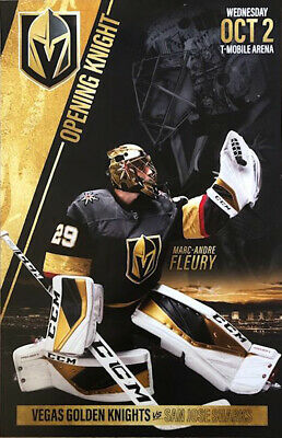Marc-Andre Fleury Vegas Golden Knights vs SJ Sharks 10/2/19 Season 3 Poster