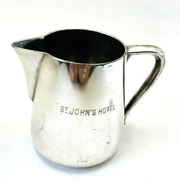 Antique Elkington Silverplated Milk Jug St John Hotelware Rare Collectible