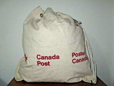 1980 POSTES CANADA POST Office Sacco Postale Antique Bag Sack Mail Pouch Canvas