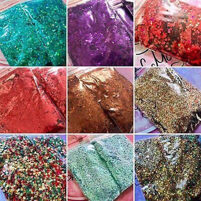 BULK GLITTER - COSMETIC GRADE - NAILS CRAFTS FESTIVAL BODY HAIR 100g