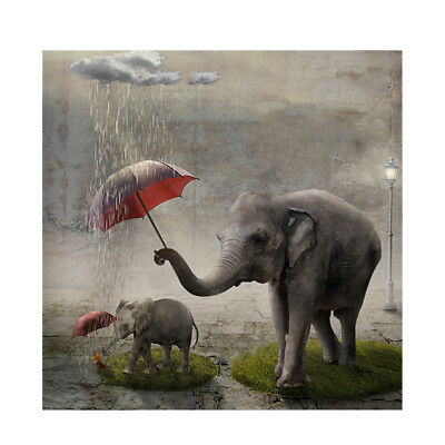Elephant Rain Umbrella Full drill 5D Diamond Painting Embroidery Handmade N6385