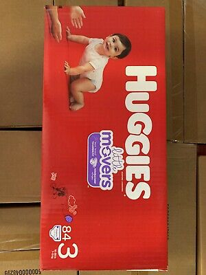 HUGGIES Little Movers Diapers, Size 3 (16-28 lb.), 84 Ct.