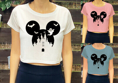 Halloween Mickey Mouse Disney Inspired Funny  Girls Womens Kids Crop Top