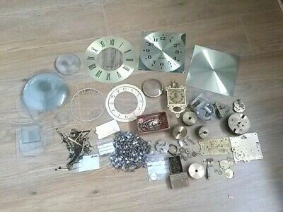 Joblot bundle Clock spares, bezels, brass face, hands