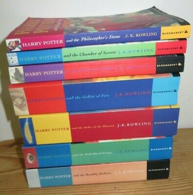 Harry Potter Complete Paperback Book Set 1-7 1st Editions Bloomsbury JK Rowling