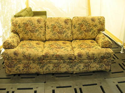 """Ethan Allen furniture 84"""" Sofa / Couch & 36"""" Matching Chair """"Cabbage Rose"""" EUC!"""