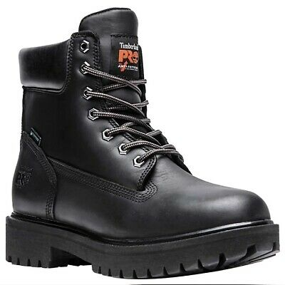 Timberland PRO Direct Attach 6 Inch Steel Toe Black Work Boots  26038 /  A22ZA