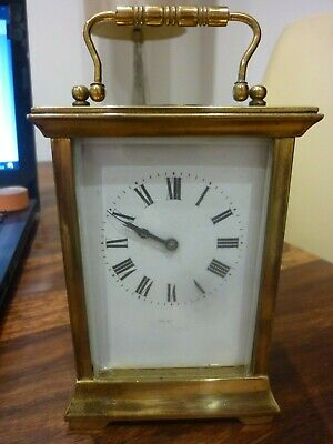 Antique French  Mantle Clock (liech)? working keeping time with key+