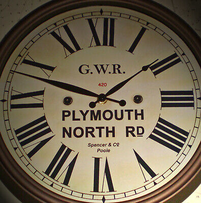 Great Western Railway GWR Victorian Style Clock, Plymouth North Road Station