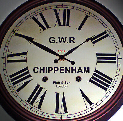 Great Western Railway GWR Victorian Style Clock, Chippenham Station