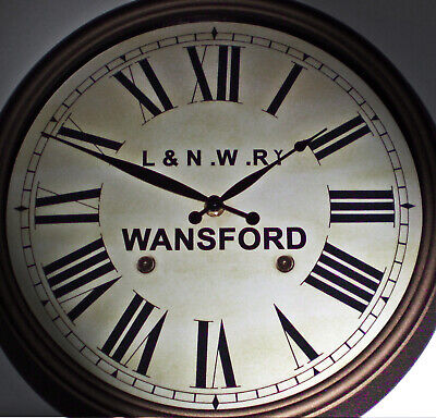 London & North Western Railway Victorian Style Clock, L&NWR Wansford Station