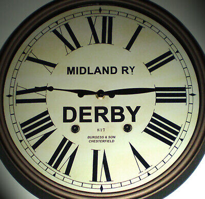 Midland Railway MR, Victorian Style Clock, Derby Midland Station.
