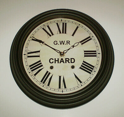 Great Western Railway, GWR Victorian Style Waiting Room Clock, Chard Station.