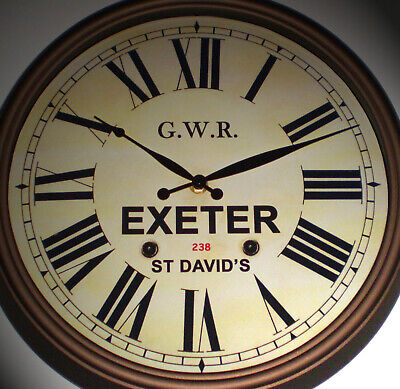 Great Western Railway GWR Victorian Style Clock, Exeter St David's Station