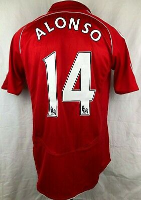 Liverpool Football Shirt 2007-08 Home Alonso #14 (Excellent) L Soccer Jersey Top