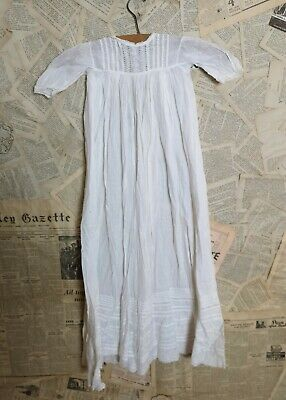 Antique Victorian christening gown, baby dress, broderie anglaise