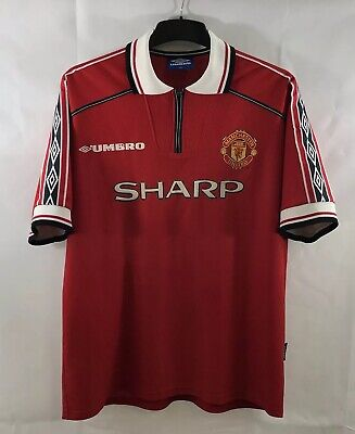 Manchester United Home Football Shirt 1998/00 Adults XL Umbro A578