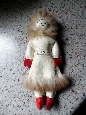 Vintage Authentic  Handmade Eskimo Doll From Alaska