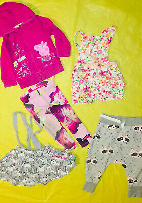 Baby Girls 12-18 Months Bundle Ted Baker Peppa Pig NEXT Leggings Hoodie Skirt