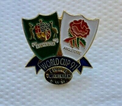 1991 Rugby World Cup FINAL,  Original Pin Badge - England v Australia RWC