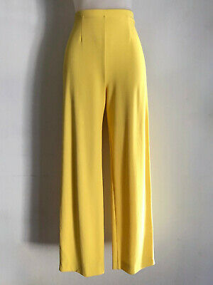 MISSONI!!! Vintage 1990s 'Missoni' stretch crepe, high waisted, yellow pants