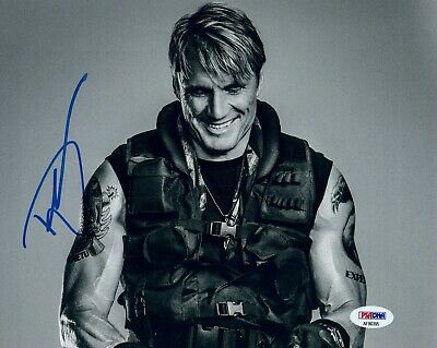 Dolph Lundgren Signed Autographed 8x10 Photo Rocky The Expendables PSA/DNA COA