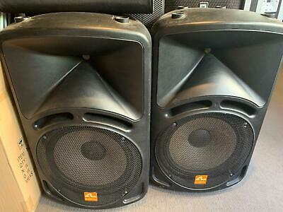 Pair of Audioline 15 Inch PA DJ Party Speakers 1000W