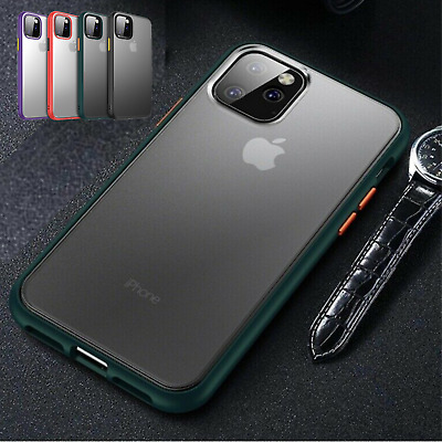 iPhone 11 Pro Max Clear Phone Case Shockproof Colour Bumper Slim Soft Cover