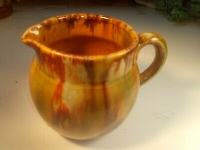John Campbell Pottery Milk Jug , Signed . Beautiful Rich Glaze , Excellent Cond.