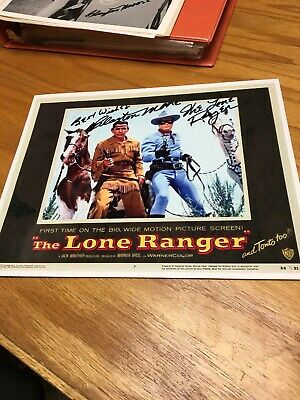 Lone Ranger And Tonto Autographed By Clayton Moore