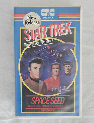 Star Trek Classic TV Adventures VHS (1982) - Space Seed / The Changling